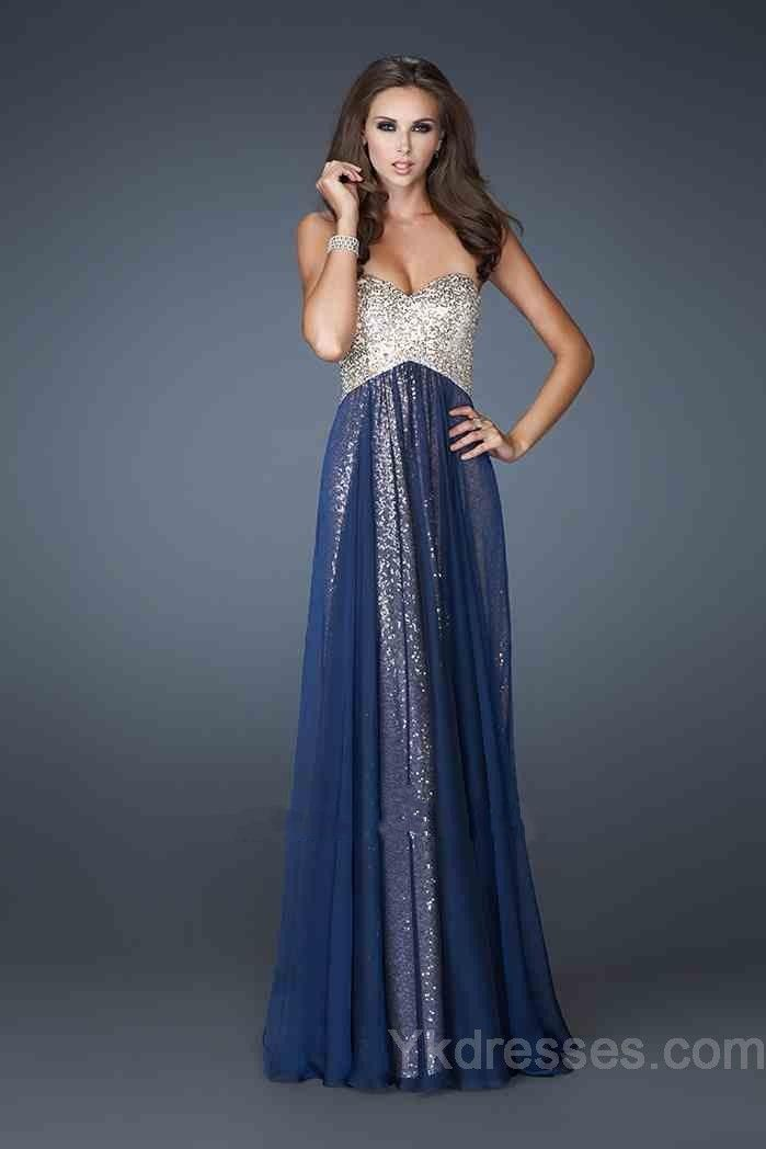 Chiffon Sweetheart No Waist/Princess Seams Sleeveless A-Line Evening Dress ykdress5261