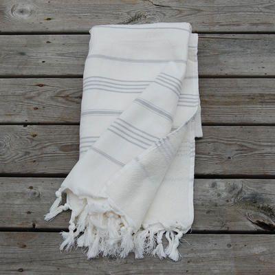 Hamam Handduk Pacific white-grey - Hamam handdukar, Beni Ourain & mer urban ethnic fashion & interior