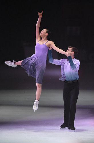 Figure Skating : Mao Asada and Jeffrey Buttle perform at the LOTTE presents THE ICE 2014 at White Ring, Nagano, Japan.