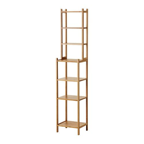 RÅGRUND Shelving unit IKEA Perfect in a small bathroom. Bamboo is a hardwearing natural material.