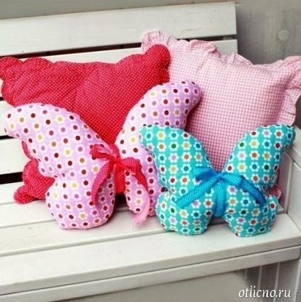 Поделки из ткани подушка