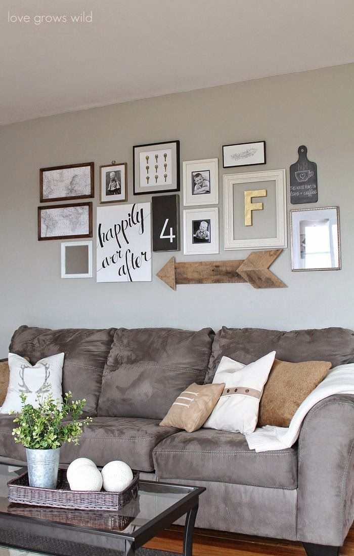How To Make An Eclectic Gallery Wall Grey CouchesGray Couch DecorWall
