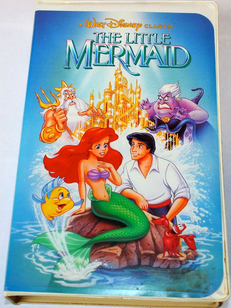 disney littlemermaid vhs movie banned cover rare black