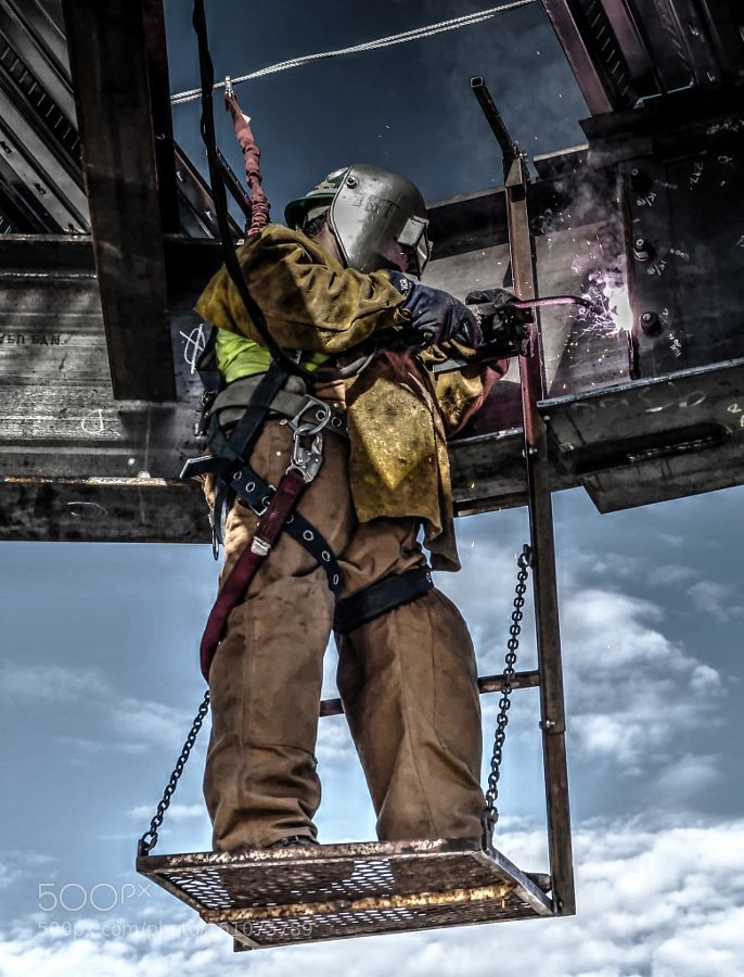 Ironworker Welding by Ive