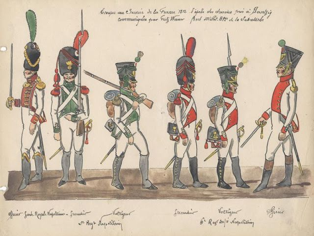 Troupes au service de la France 1812 Régiment Napolitain