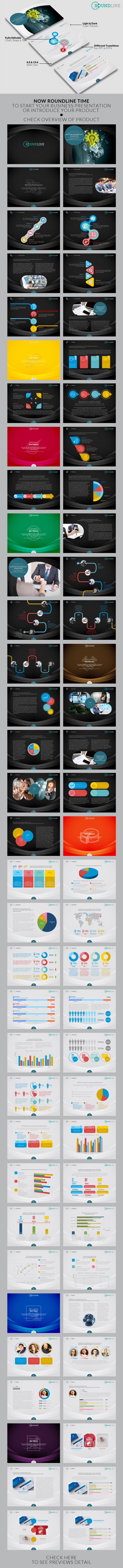 Roundline Powerpoint Template (Powerpoint Templates) preview