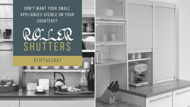 Tip Tuesday - Don't want your small appliances visible?  Roller Shutters provide handy storage for counter top appliances, that can be easily accessed as required, or quickly concealed to keep your kitchen neat and tidy.