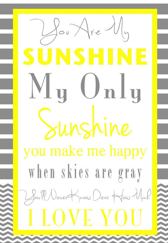 You are my SUNSHINE.  8x10 digital file by GoToGirlSignDesigns, $14.00