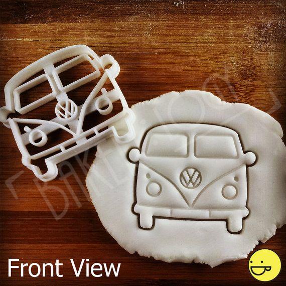 VW Camper Van Inspired Cookie Cutter | Biscuit cutter | Vintage Classic Kombi Van, Microbus, Transporter, bus Type 2, one of a kind ooak