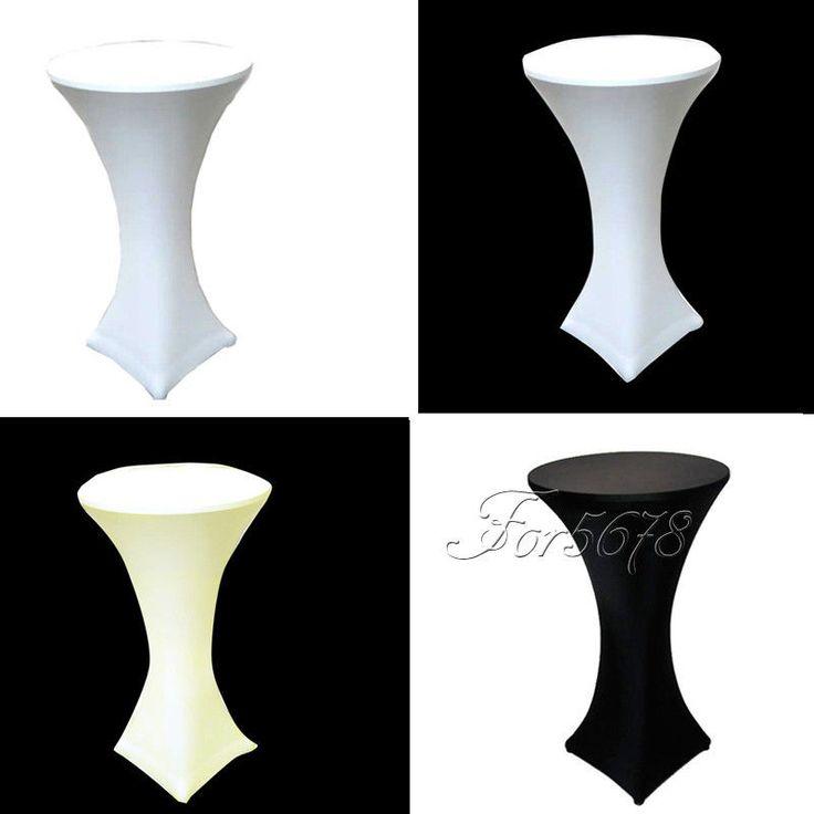 10 Lycra Dry Bar Spandex Table Cover Stretch Cocktail Poseur Cloth Wedding 60cm #Unbranded