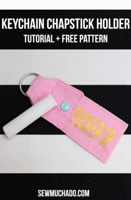 25 Ideas Crochet Keychain Pattern Free Chapstick Holder para 2019