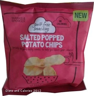 Guilt Free Snacking Marks & Spencer Salted Popped Potato Chips