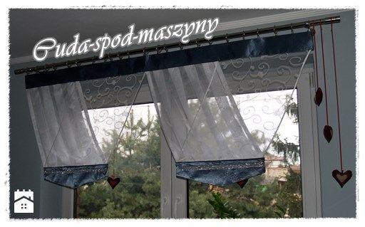 Firana V-ka z cyrkoniami - zdjęcie od cuda-spod-maszyny - Salon - Styl Glamour - cuda-spod-maszyny
