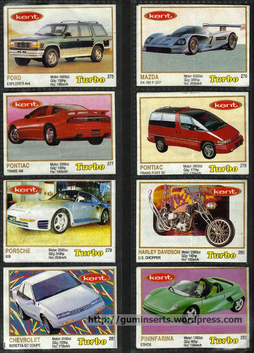 Turbo 261-330, thick frame | My Bubble Gum Inserts Collection
