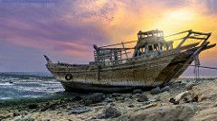 Damaged boat - Ushairij | Damaged boat - Ushairij Photograph… | Flickr