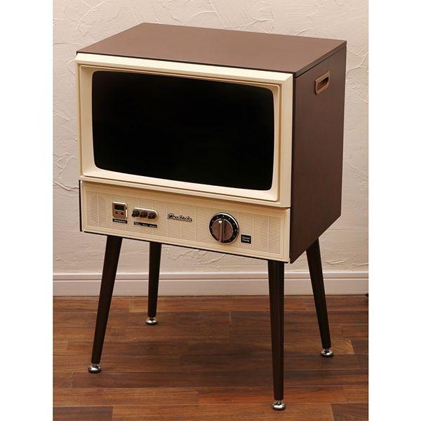 ブラウン管テレビのようなビンテージ調デザインの液晶テレビ「VT203-BR」が自宅に来た! - 価格.comマガジン