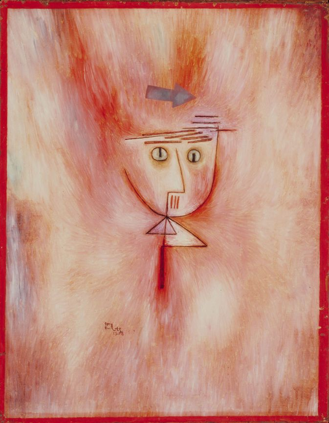 Paul Klee, Close shave, 1928, 143, Oil on board, © VBK Wien, 2008, San Francisco Museum of Modern Art, Albert M. Bender Collection, Albert M. Bender Bequest Fund Purchase.