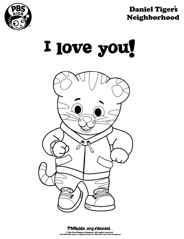 Just In Time For Valentineu0027s Day! Show Someone You Love Them With A  Coloring Of. Daniel Tiger ...