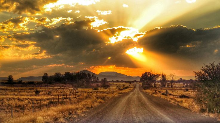 The lonely dusty road somewhere on the karoo.