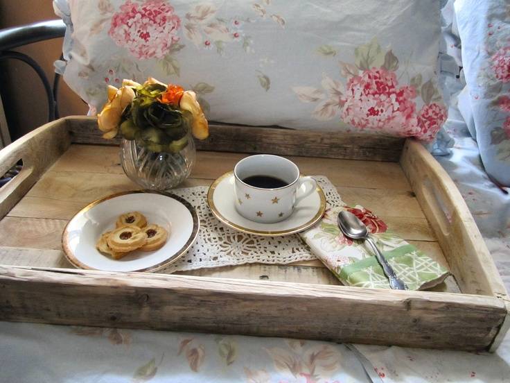 Love this old barn wood serving tray