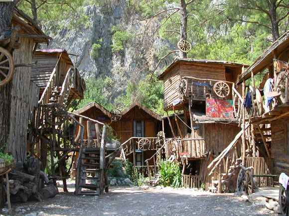Olympos - Turkey, been there. Beautiful beach, sleeping in treehouses and an awesome hippie-like community!!