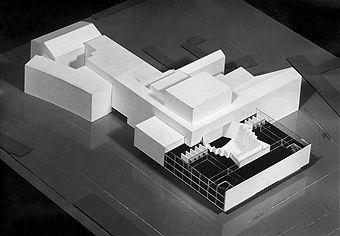 Deutsche Oper Berlin - Modell des Architekten Fritz Bornemann 1956