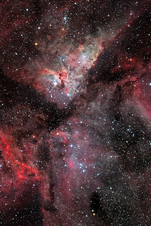 Carina #nebula. #astronomy #space  I would cover a wall with a high Res print of this if I could.