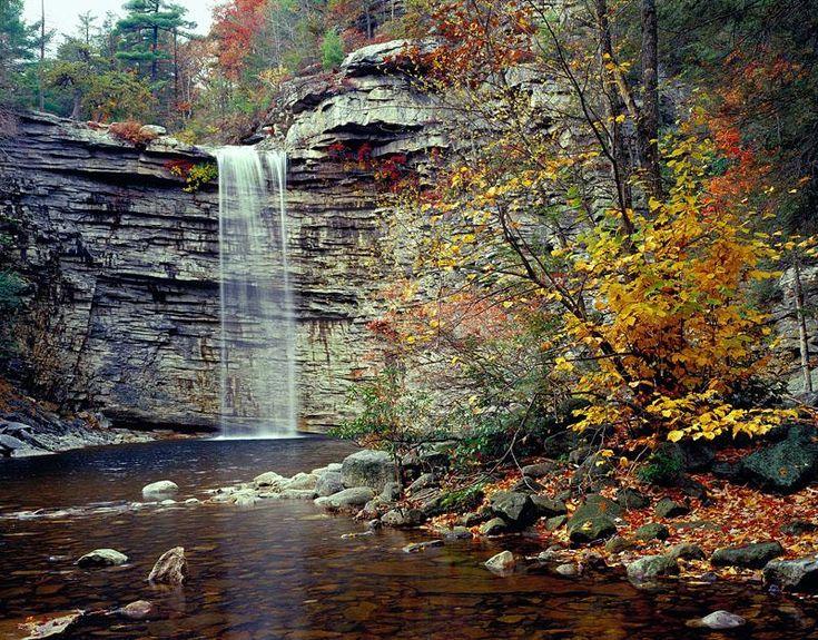 Awosting Falls In Autumn, Lake Minnewaska State Park