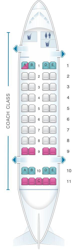 Seat Map Air Inuit Dash 8 300 45pax