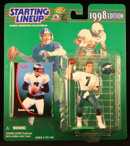 BOBBY HOYING / PHILADELPHIA EAGLES 1998 NFL Starting Lineup Action Figure & Exclusive NFL Collector Trading Card