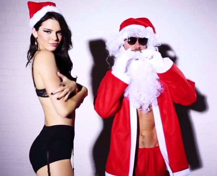 Watch fashion's favorite California girl get down with Santa in some sexy lingerie.
