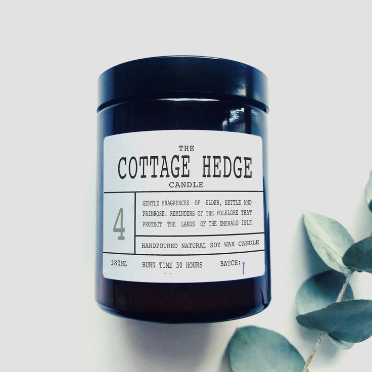 The Cottage Hedge - Scented Soy Wax Candle - Made In Ireland by TheIrishChandler on Etsy