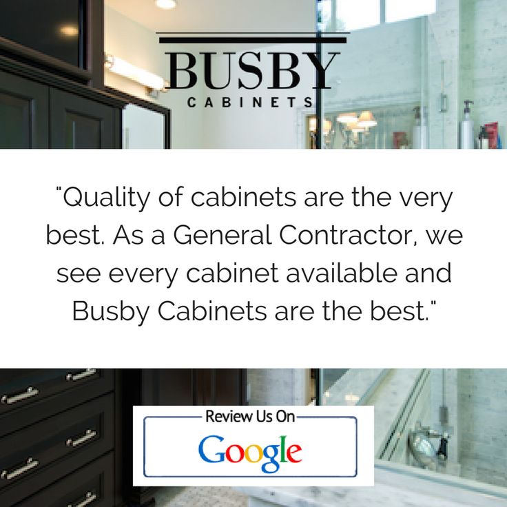 Tell Us About Your Experience With Busby Cabinets! Leave Us A Review On  Google!
