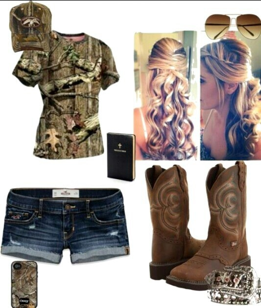 Camo, this outfit doesn't need perfectly curled hair?