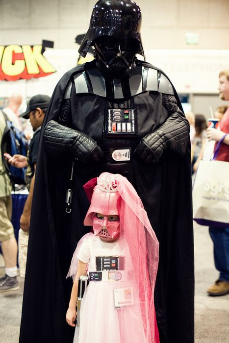 Gotta love Father/Daughter time.Darth Vader, Darthvader, Parents Done Right, Stars Wars, Fathers Daughters, Princesses, Daddy Daughters, Parents Win, Starwars