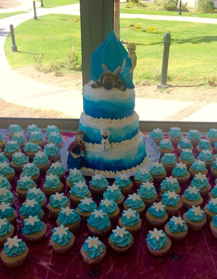 Frozen cake Olaf Cupcakes