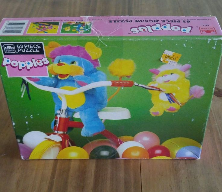 Muppet Babies Mcdonalds Toys Value Vintage Popples Puzzle 63 Piece 1987 Golden W Box Complete