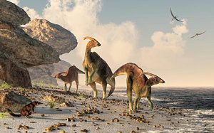 Digital Art - Prehistoric Beachcombers by Daniel Eskridge