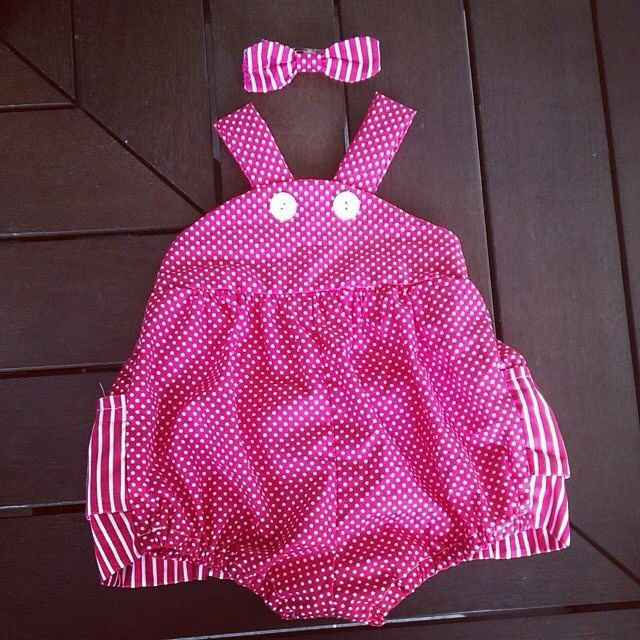 The beautiful frilly pink romper from our Zaylie_Co range