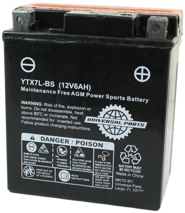12V 6AH scooter motorcycle ATV Battery YTX7L-BS