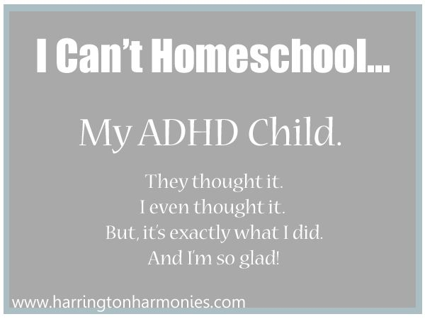 You CAN homeschool an ADHD Child: One mom's success stroy. | Hip Homeschool Moms from Author Stephanie Harrington #kids #homeschooling #ADHD