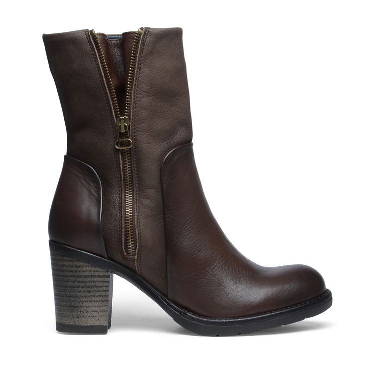 Braune Stiefel mit Reißverschluss
