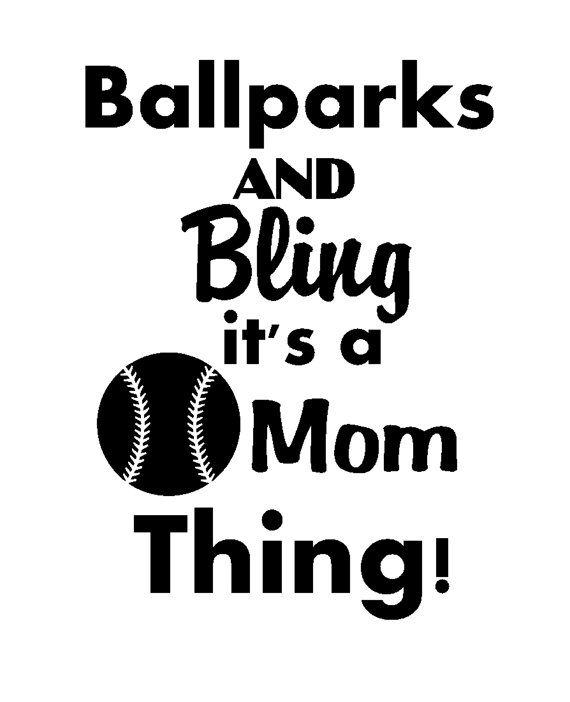 Baseball Mom Vinyl Decal Sticker By Pazabri On Etsy 8 00