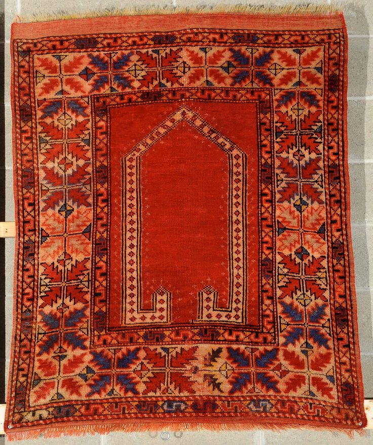 Bergama Prayer Carpet Early 20th Century 123 X 104 Cm