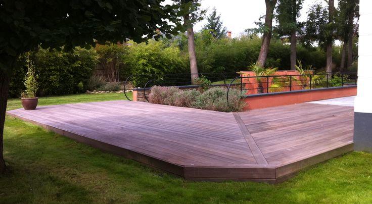 avons posé une terrasse de 80m² en bois exotique, du Massaranduba