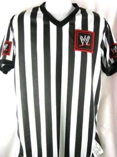 WWE Logo Referee Shirt New Adult Sizes S-3XL - WWE Logo - Superstars