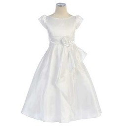 I just bought Sweet Kids White Cascading Taffeta First Communion Dress Girls 6-12 from Sophias Style. Check it out!