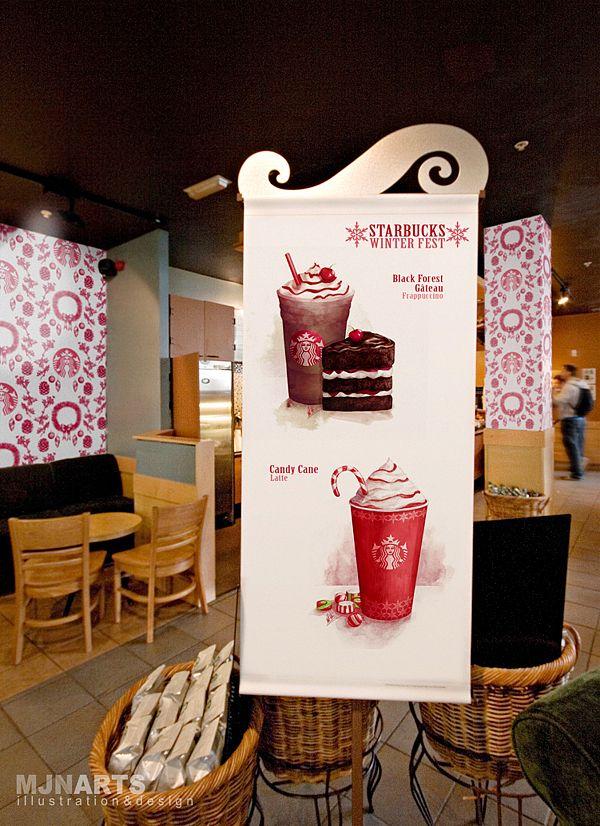 Starbucks Winter Fest Campaign, Candy Cane Frappe pleaseeeeee,<3333