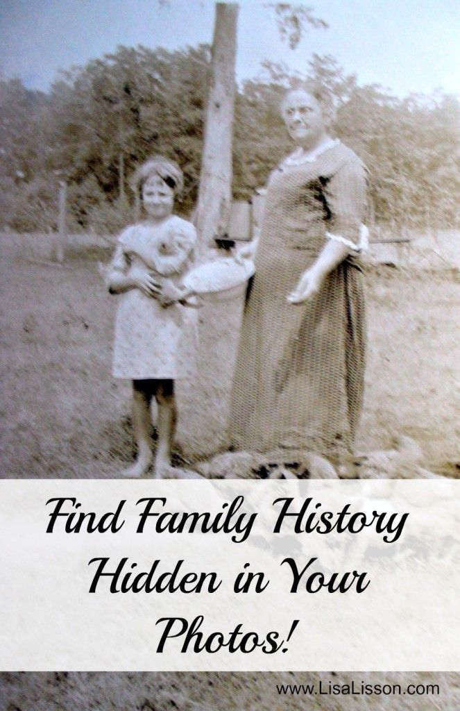 Find Family History Hidden in Your Photos #genealogy