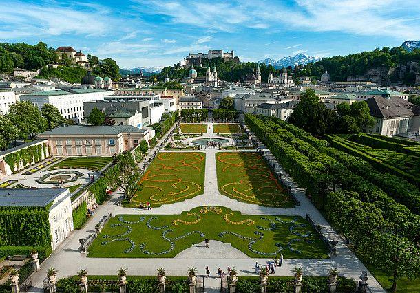 Salzburg: Blick vom Mirabellgarten auf die Festung Hohensalzburg © Salzburg Tourismus GmbH
